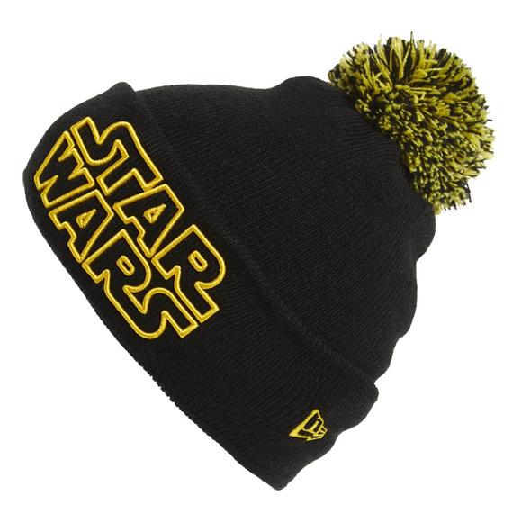 294dc9b57 NEW Star Wars Pom Pom Black & Yellow Beanie NWT